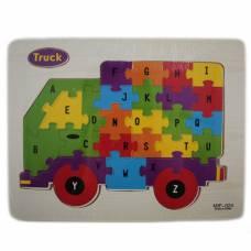 Обучающая деревянная доска, рамки вкладыши, пазл, грузовик