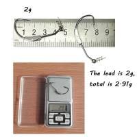 Отгруженный офсетный крючок с пружинкой 2, 2.5, 3 грамма