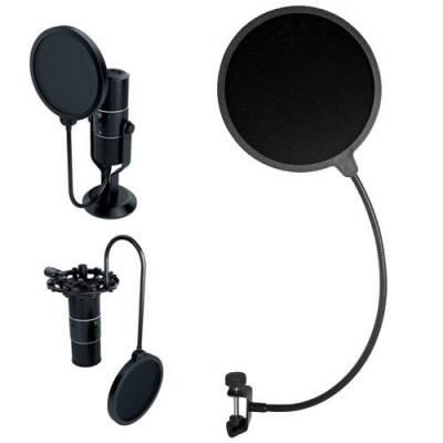 Поп-фильтр для микрофона, звукозаписи 155 мм, фильтр, поп-фильтр
