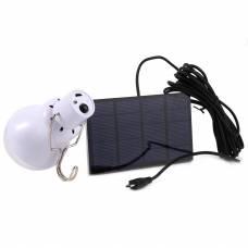 Переносная светодиодная лампа с аккумулятором и солнечной панелью