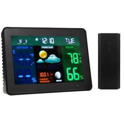 Безпровідна метеостанція з виносним датчиком, кольоровий екран