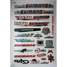 Наклейки на велосипед Shimano