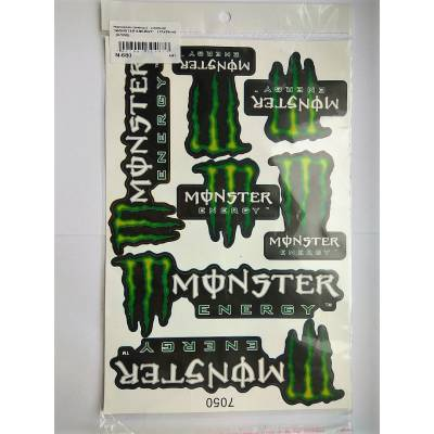 Наклейки на велосипед Monster Energy