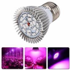Фитолампа для растений, синий+красный E27, 18 LED 18Вт