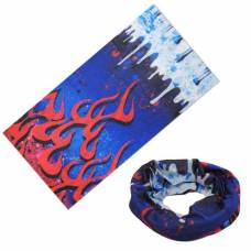 Бафф бандана-трансформер, шарф с микрофибры, огонь и лед