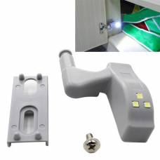 Светодиодная LED подсветка корпусной мебели шкафа на мебельную петлю
