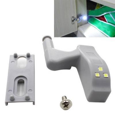 Світлодіодна LED підсвічування корпусних меблів шафи на меблеву петлю
