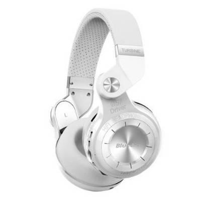 Беспроводные Bluetooth наушники гарнитура Bluedio T2+ MicroSD FM белые