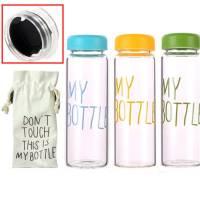 Пляшка My Bottle 500мл пластик прозорий з дозатором + чохол