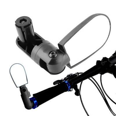 Велосипедное зеркало заднего вида в трубу руля, регулируемое 360