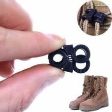 Зажим для шнурков обуви, пряжка, фиксатор,10 шт
