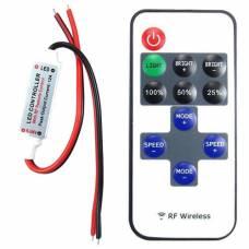 Беспроводной контроллер 1к LED лент, 12-24В, 6А