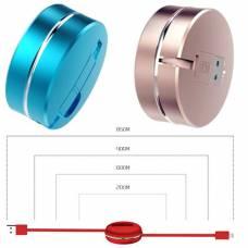 Вытяжной MicroUSB + Lightning кабель зарядка 2в1