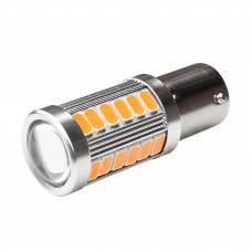 LED 1156 BA15S P21W лампа в автомобіль, 33 SMD, жовта