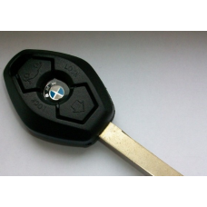 Ключ зажигания, заготовка корпус под чип, 3 кнопки, BMW