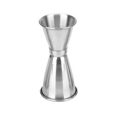 Джиггер мерный стакан 22.5/30мл для коктейлей бара, нержавейка