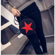Модная круглая сумка со звездой