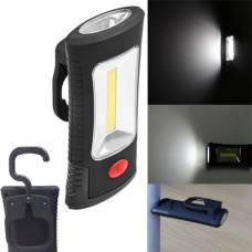 Лампа фонарь с магнитом и крючком для палатки кемпинга 1COB+3SMD LED