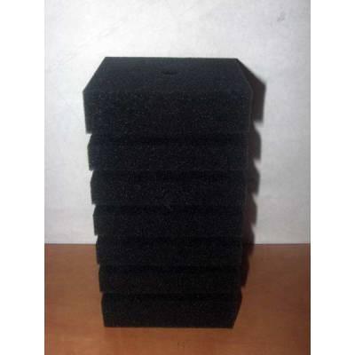 Фильтр -губка серая крупнопористая квадратная  8х8х14см