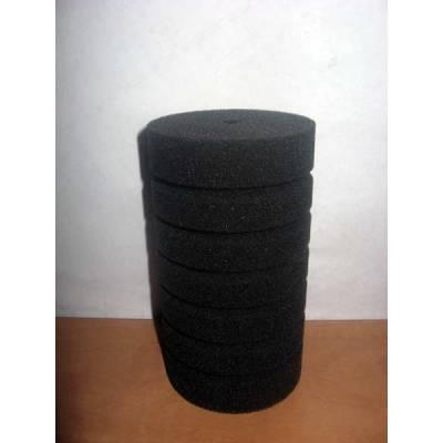 Фильтр -губка серая крупнопористая круглая  d10х15см