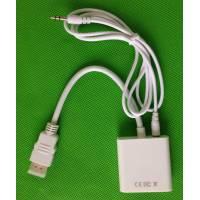 HDMI в VGA конвертер внешний преобразователь + звук