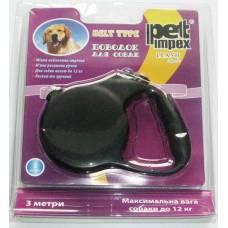 Поводок-рулетка для собак, Petimpex 3 м до 12 кг., Стрічка