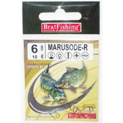 Крючки BratFishing MARUSODE-R, №6