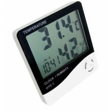 Термометр, Гигрометр, Часы, Будильник HTC-1