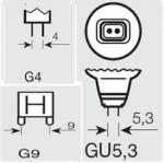 Лампи G4, GU5.3, G9