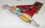 PCI 4 канальная звуковая карта, MIDI, Game порт