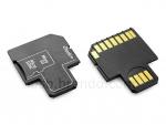 Универсальный адаптер microSD/SDHC на SD и USB (3 в 1)
