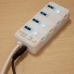USB 3.0 Хаб на 4 порта USB 3.0 с выключателями + доп. питание