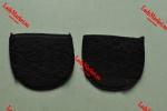Полуподследники с ажурной лентой и нескользящими нижними подушечками, черные