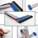 Райзер PCI Express x1-x16 (30см) с доп питанием (Molex)