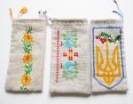 Патриотический чехол  для мобильного телефона с вышивкой, герб Украины