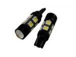 2x LED T10 W5W лампа в автомобиль, 8 SMD + 1 COB