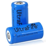 4 х Аккумулятор Ultrafire CR123A 16340 CR123 880мА