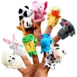 10 шт Мягкая игрушка на палец, кукольный театр, развивающая игрушка
