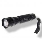 Мощный тактический фонарь с линзой, 18650, чёрный