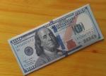 Кошелек, бумажник, портмоне, новые 100 долларов