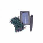 Гирлянда садовая на солнечной батарее, 200 разноцветных светодиодов, длина 20 метров