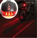 Фонарь на велосипед задний 5 LED 2 лазера