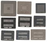 Набор из 8 BGA трафаретов для памяти DDR DDR2