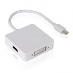 3 в 1 переходник с Mini Displayport на HDMI, DVI, DP