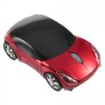 Беспроводная мышь Porsche, мышка-машинка, красная, черная