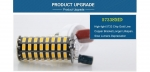 Светодиодная лампа LED E27 smd 5733, Foxacon 136 диодов 10 Ватт