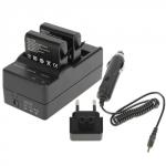 Сетевое + авто зарядное GoPro AHDBT-401