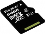 Карта памяти MicroSD 64ГБ кл10 Kingston UHS U1