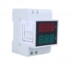 Вольтметр амперметр 2xLED 80-300В 0-99.9А DIN