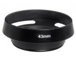 Бленда вентилируемая 43мм, металл, Leica, черная